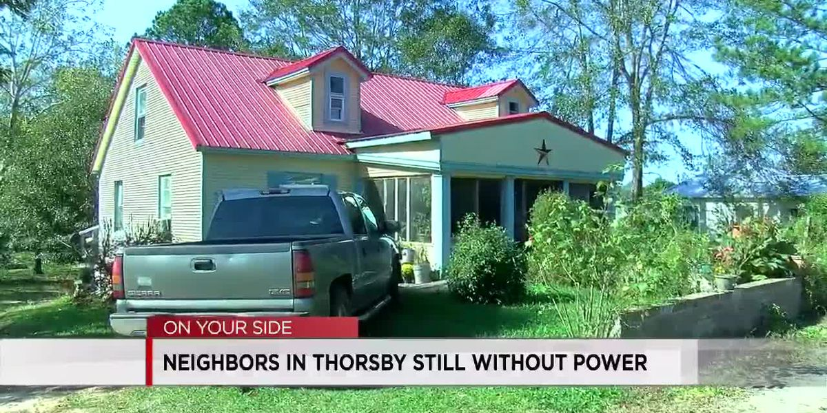 Neighbors in Thorsby still without power