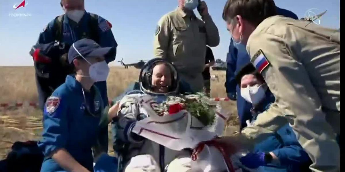 NASA astronaut, 2 cosmonauts back on Earth