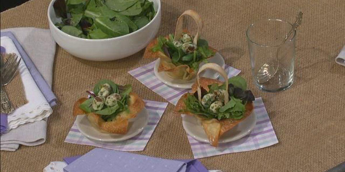 Pretty Easter Basket Salads
