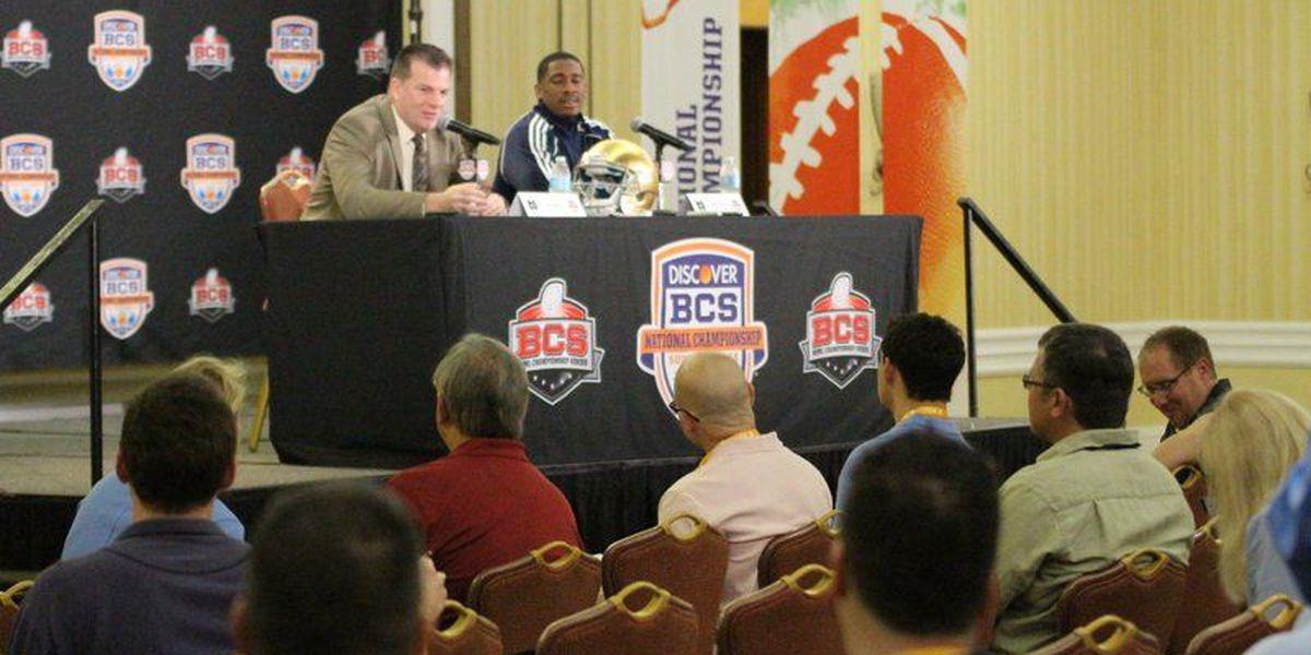 TRANSCRIPT: Notre Dame offense at BCS Championship
