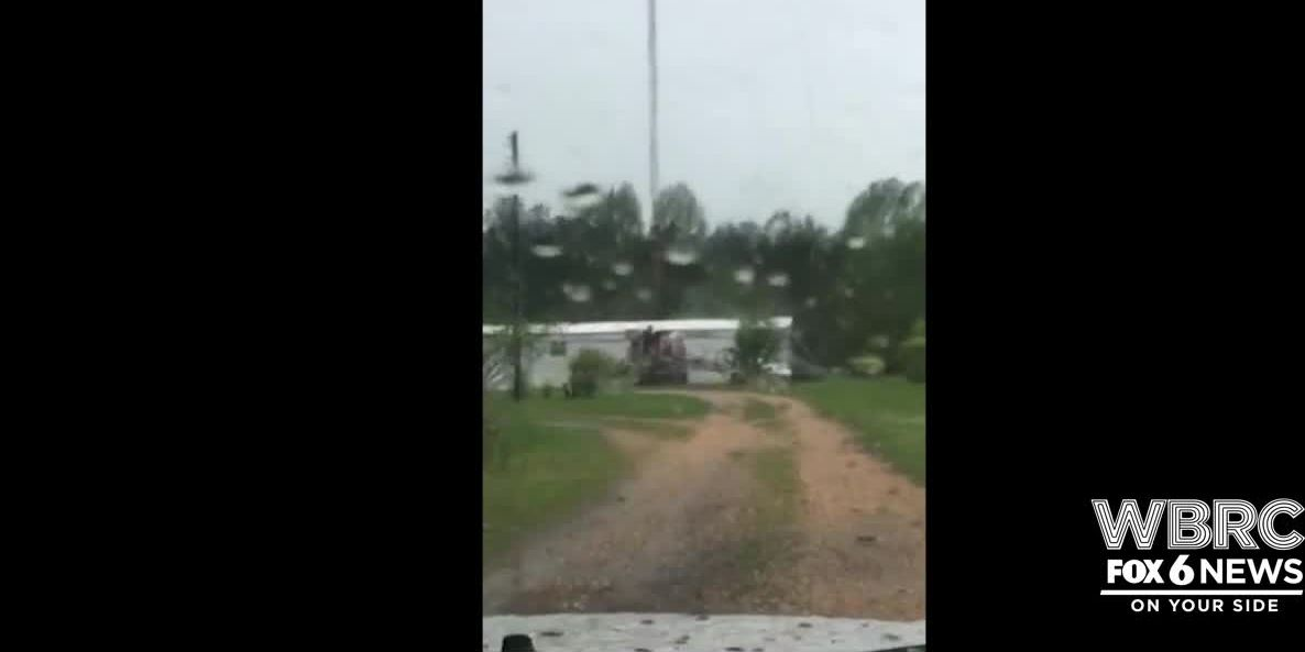 WATCH: Tower crashes into AL home while storms move through southeast
