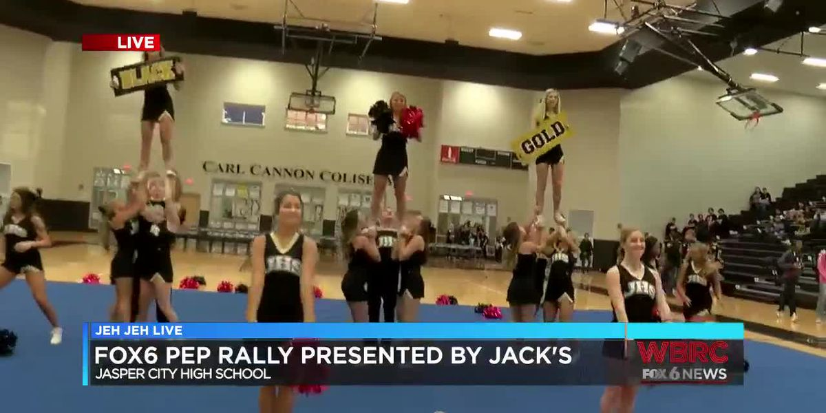Jeh Jeh Live WBRC FOX6 News Sideline Pep Rally: Jasper City High School (Part 1)