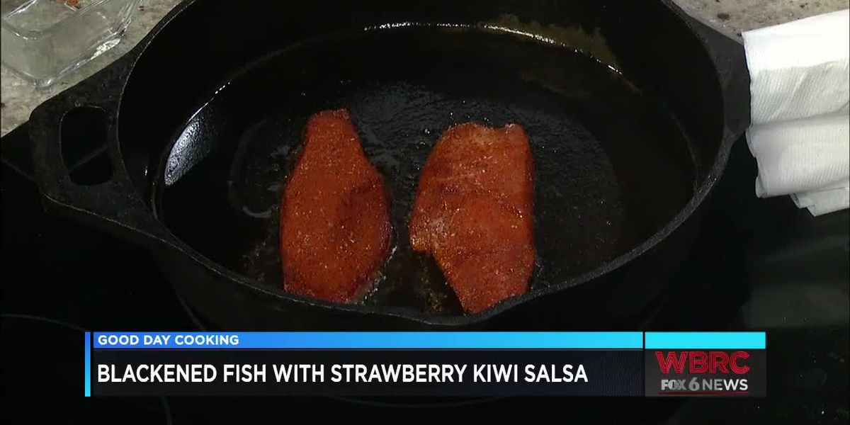 Lawson State: Blackened Fish With Strawberry Kiwi Salsa