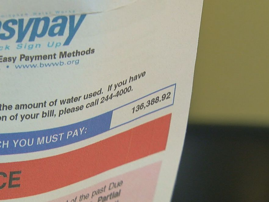 How to does a water bill reach more than $136,000?