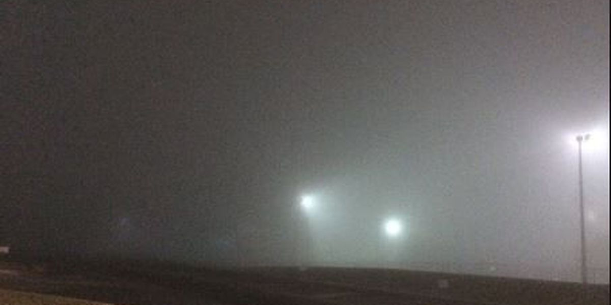 Dense fog could affect early morning commute