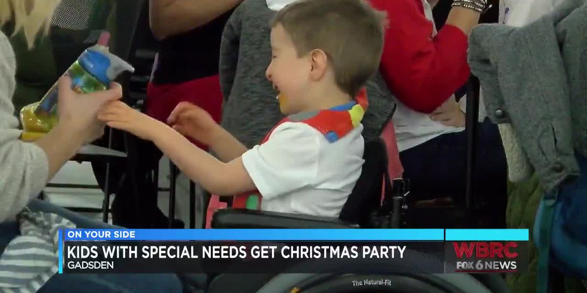 Christmas party for children with special needs in Gadsden