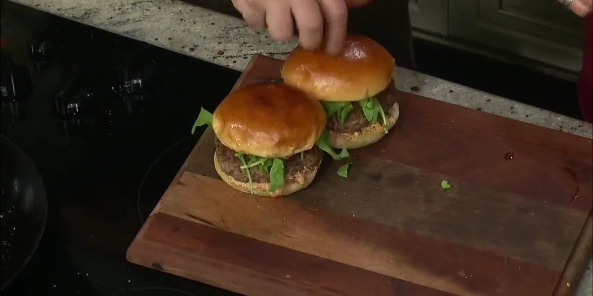 Back Forty Beer: Lamb Burgers