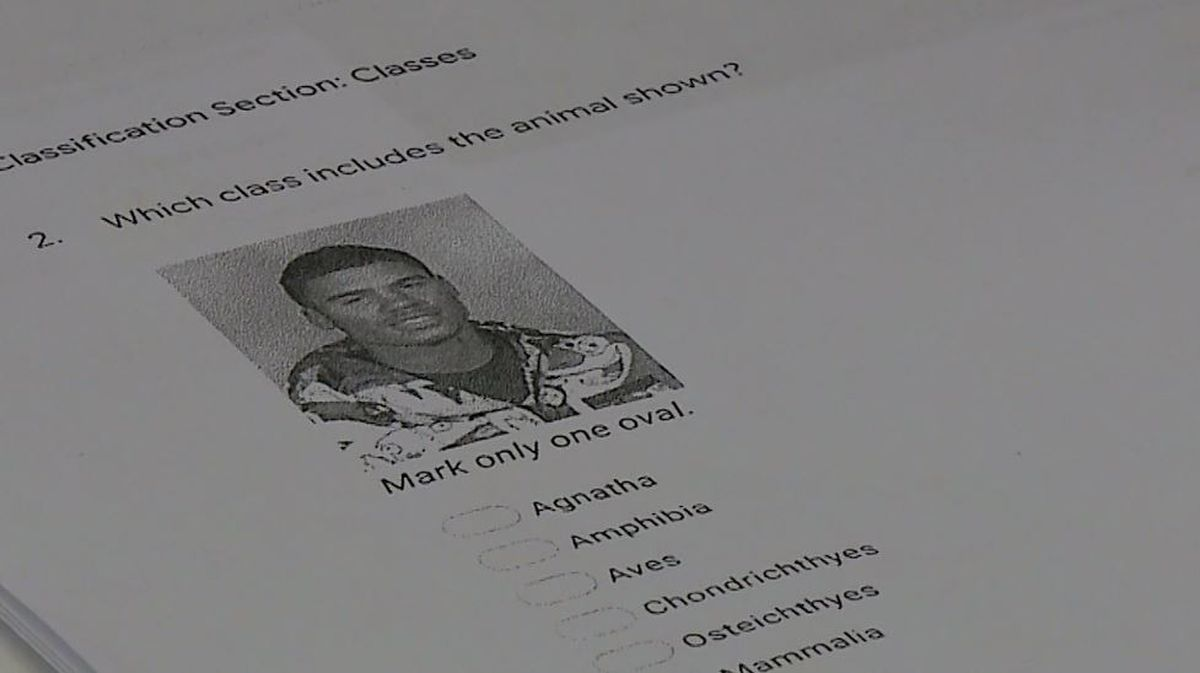 Teacher refers to student as 'animal' on science exam